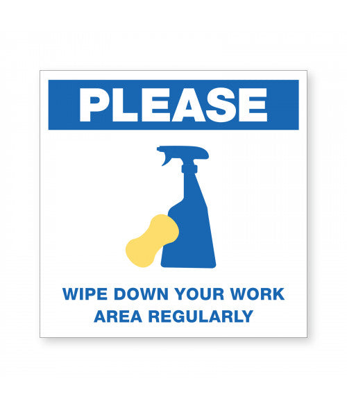 Wipe Down Area Ready Made Sign