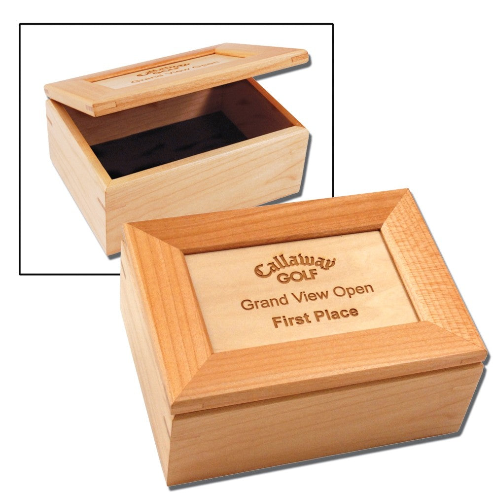 Load image into Gallery viewer, Customizable Maple Keepsake Box