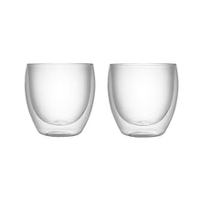 Load image into Gallery viewer, Set of 2 Double Wall Glass Tumblers 8.5 Oz