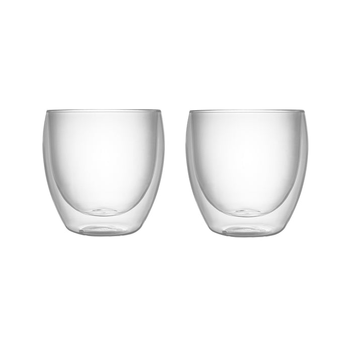 Set of 2 Double Wall Glass Tumblers 8.5 Oz