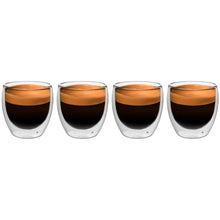 Load image into Gallery viewer, Set of 4 Double Wall Glass Espresso or Shot Glasses 2.5 Oz