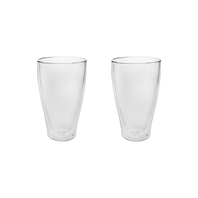 Set of 2 Double Wall Beer Glasses 16 Oz