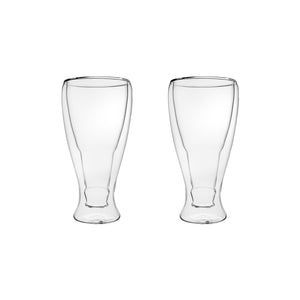 "Set of 2 Double Wall ""Freeze Cup"" Beer Glasses 13 Oz"