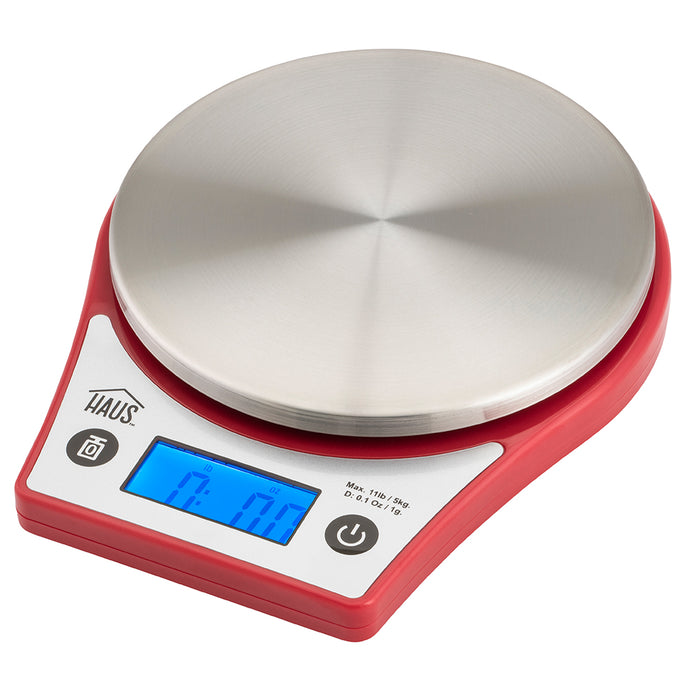 Red Digital Kitchen Scale