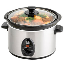 Load image into Gallery viewer, 2.5 Qt. Stainless Steel Slow Cooker