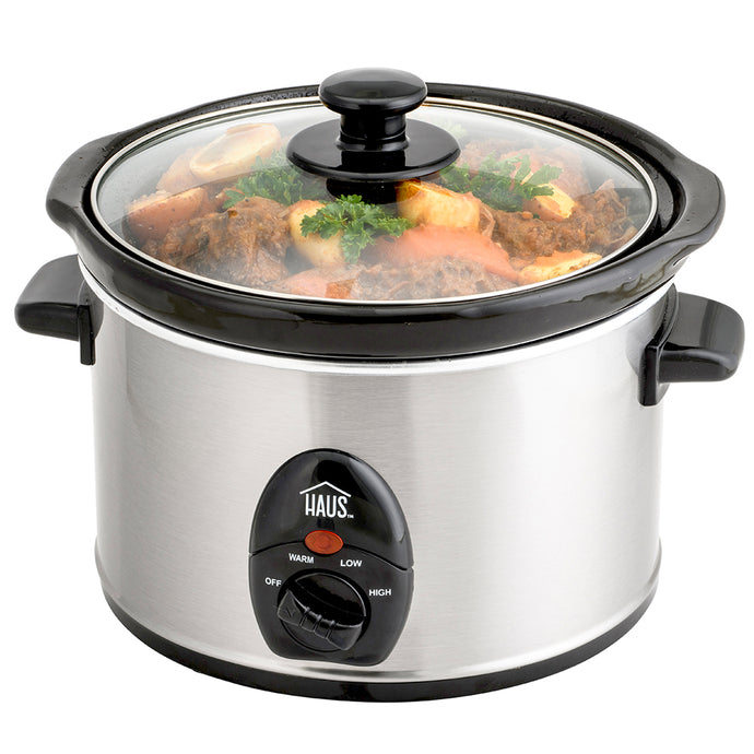2.5 Qt. Stainless Steel Slow Cooker