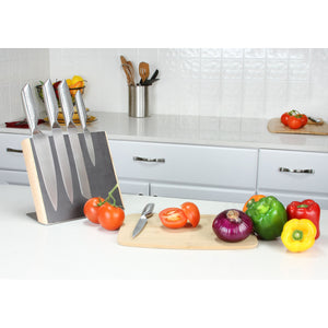 Designer Black Dot  5-Piece Stainless Steel Knife Set