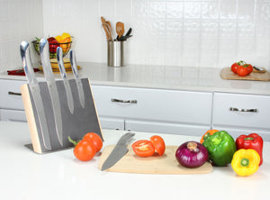 Designer Sleek 5-Piece Stainless Steel Knife Set