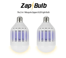 Load image into Gallery viewer, ZapBulb 2-in-1 Mosquito Zapper & LED Light Bulb 2-PACK