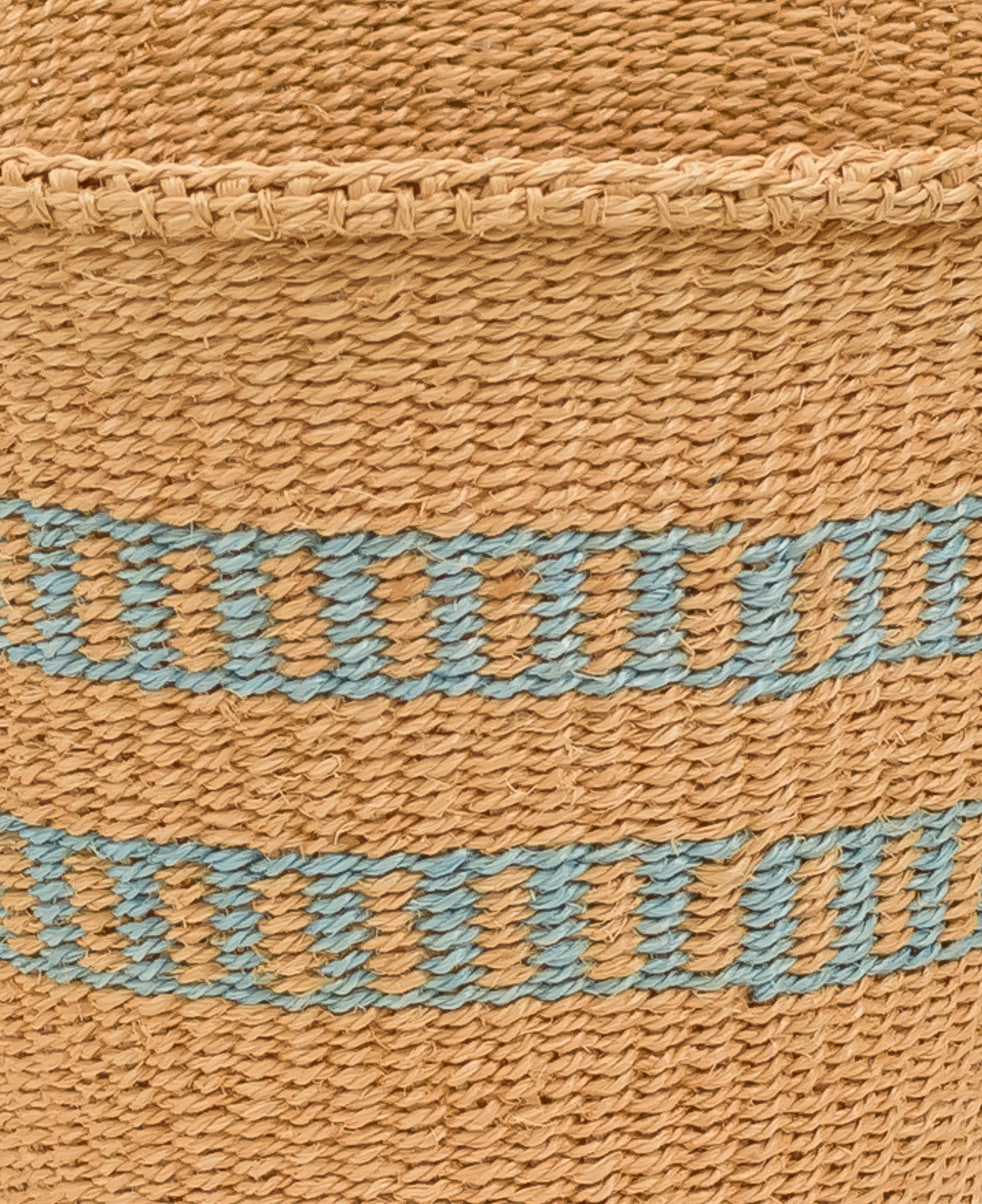 Unique basket with blue stripes - Rima Shop