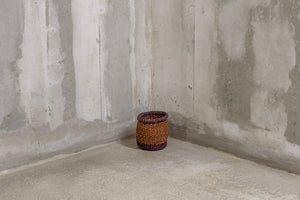 UNIQUE Collection: X-Small Purple & Orange handmade basket - Rima Shop