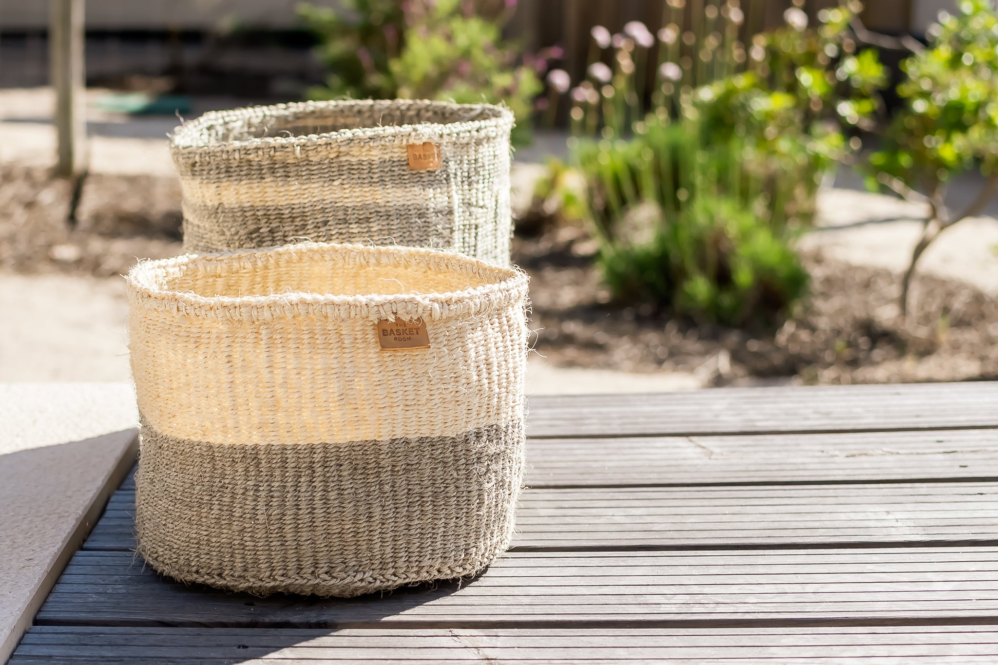 Grey handmade baskets set- Rima Shop
