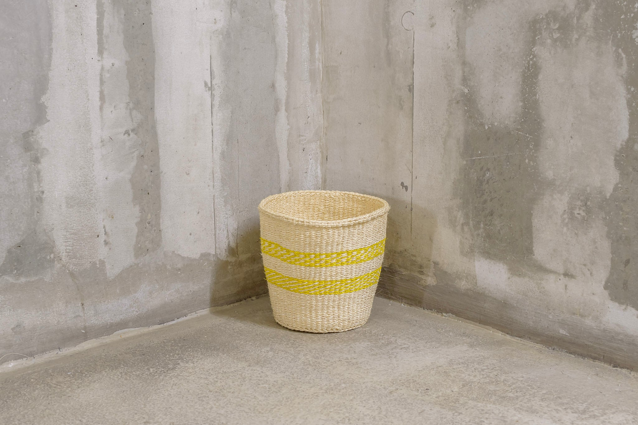 UNIQUE Collection: Yellow & natural handmade basket - Rima Shop