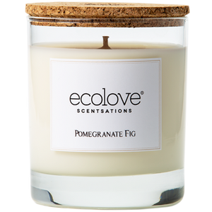 Soy candle pomegranate fig fragrance - Rima Shop