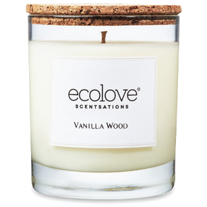 Soy candle vanilla wood fragrance