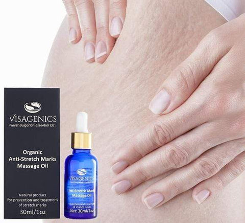 Anti Stretch Marks Oil | USDA Organic | 100% Natural | Gentle & Smooth