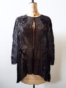 Vintage Sequin and Silk Jacket