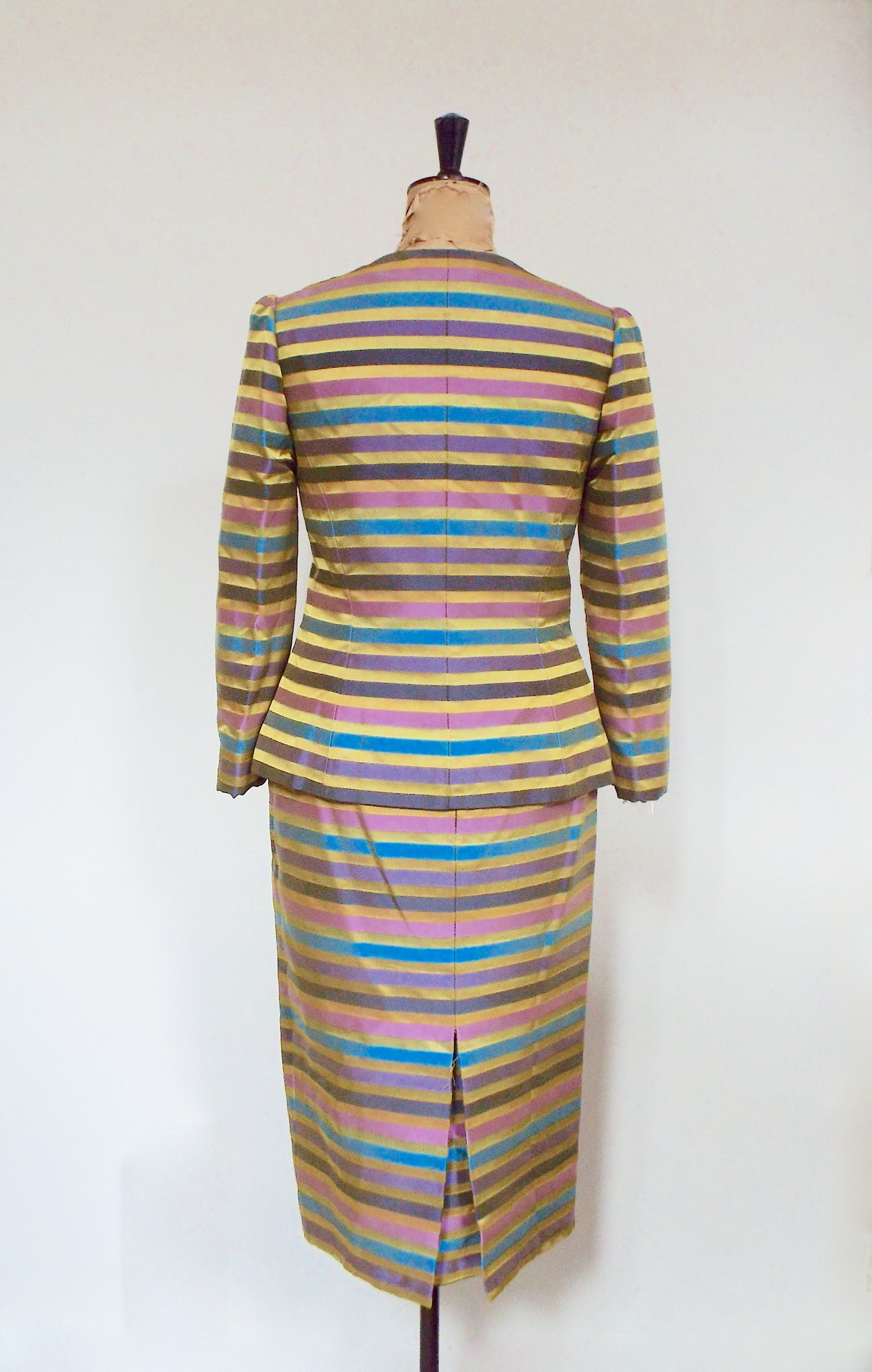 Vintage Ib Jorgensen Couture Silk Suit Size UK 12