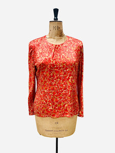 Vintage Silk Blouse, vintage top, vintage finds you,