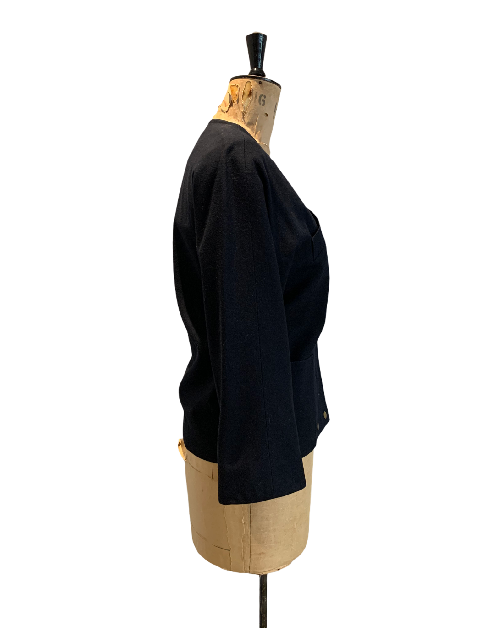 80's Vintage Navy Brian Tucker Wool Jacket Size UK 10 - 12