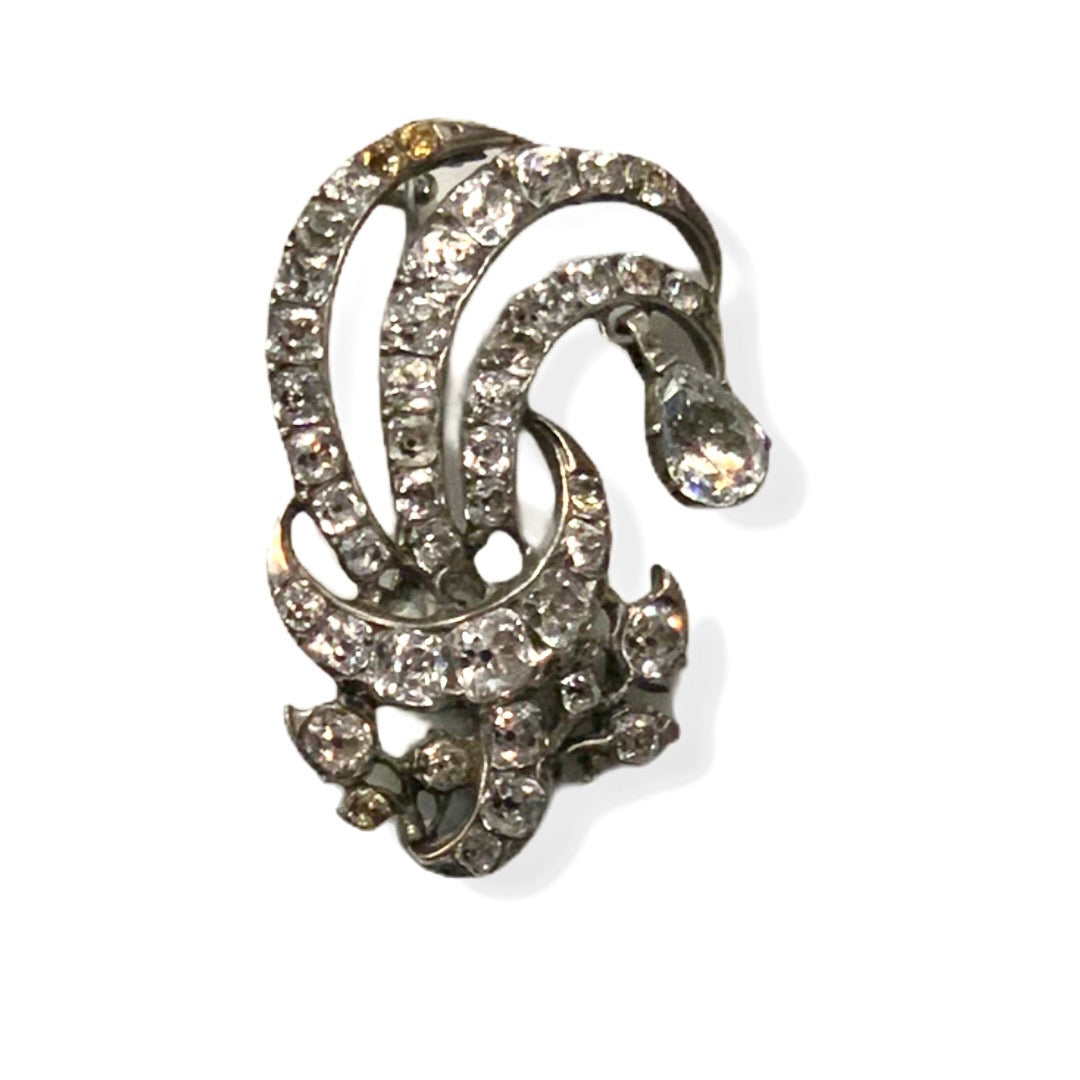 Silver Diamanté Brooch