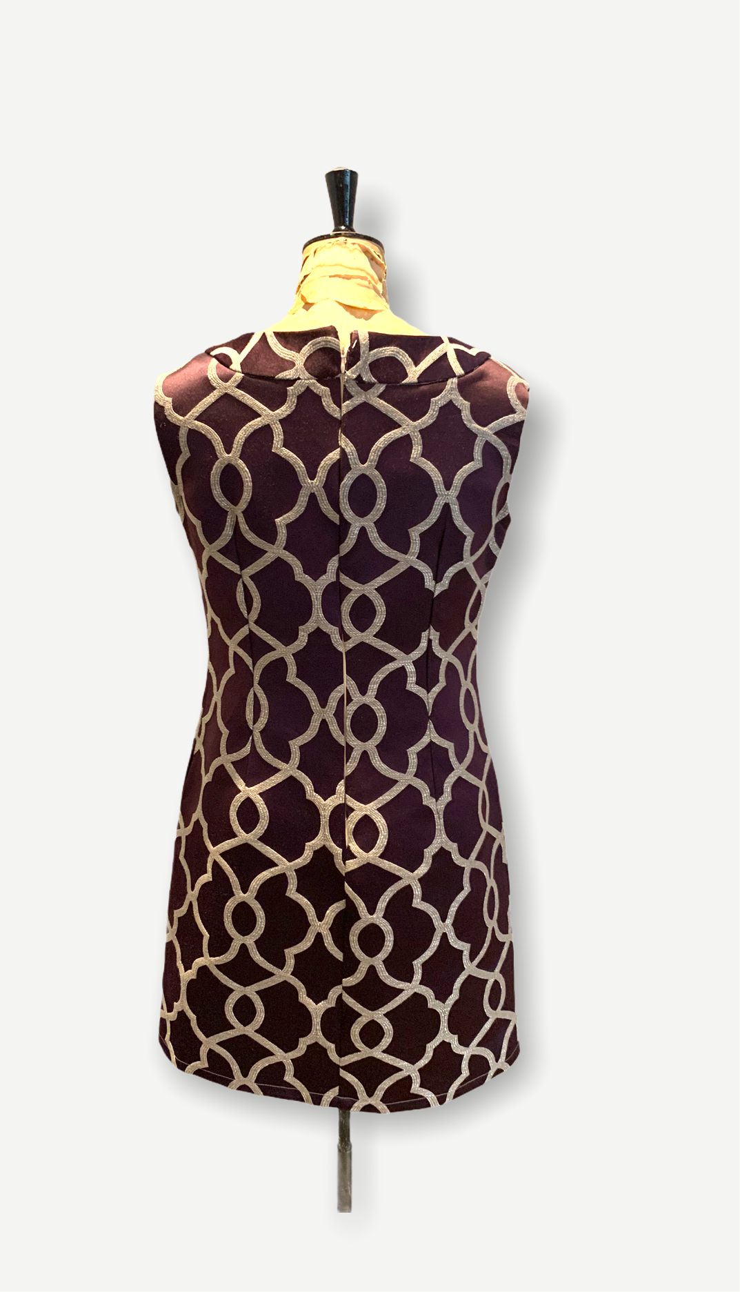 60s Vintage Graphic Print Dress