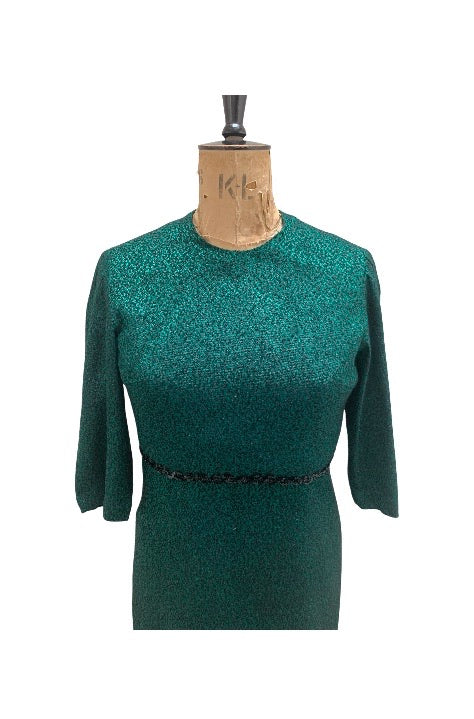 50s Green Dress and Jacket Size UK 14-16