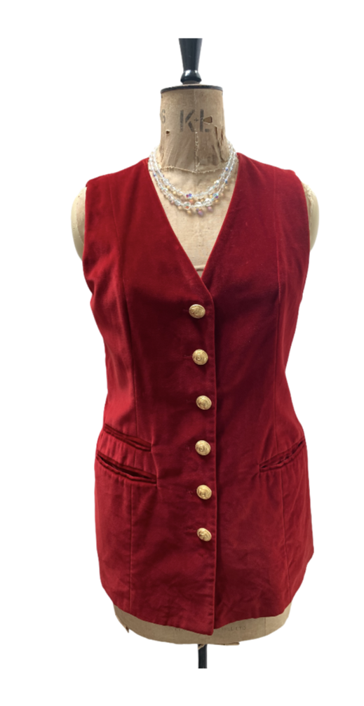 Red Vintage Velvet Jacket, vintage velvet, vintage finds you,