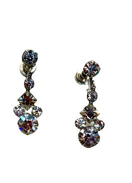 Vintage 50s Diamanté Earrings
