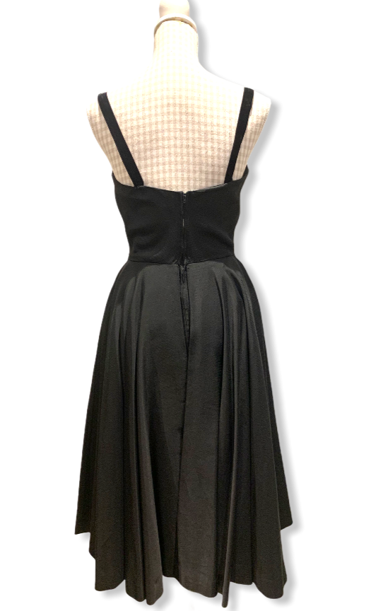 50s Couture Black Dress Size UK 8