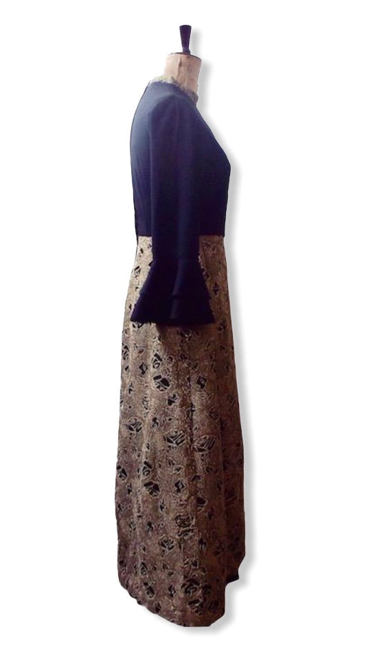60s Vintage Evening Dress Size UK 12