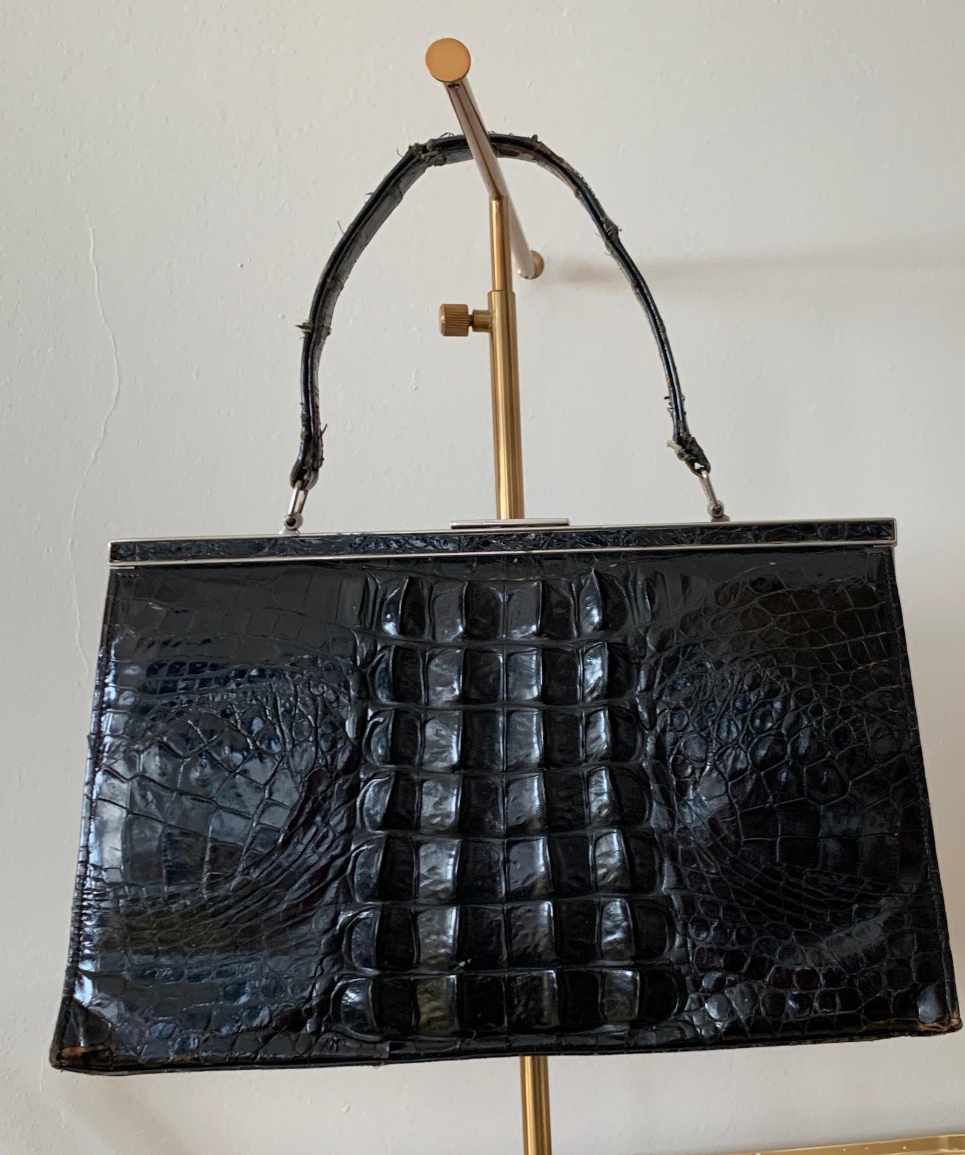 50s Leather Crocodile Bag