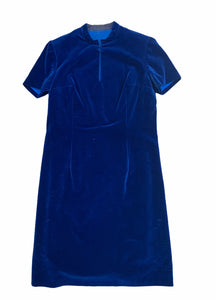 50s Blue Vintage Dress. vintage dress, velvet dress, vintage finds you,