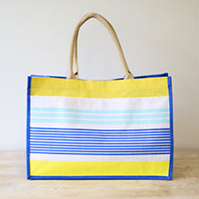 Beach Paradise Jute Pocket Tote - Shop House Market
