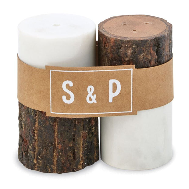 Marble Bark Salt and Pepper Shaker - Shop House Market