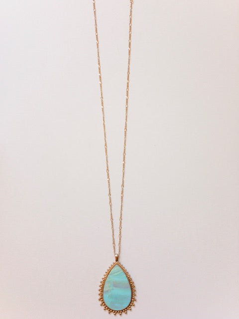 Teardrop Shell Necklace - Shop House Market