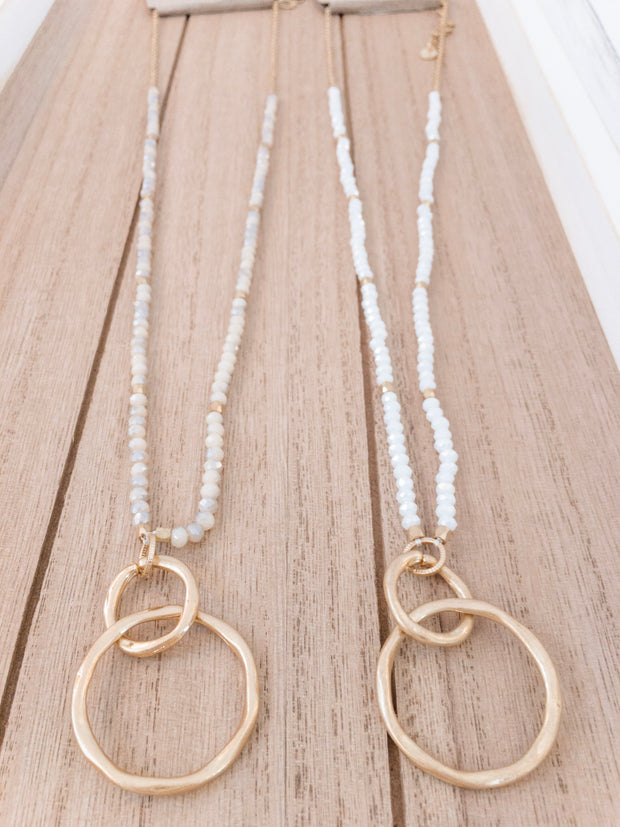 Linked Circle and Bead Necklace - Shop House Market