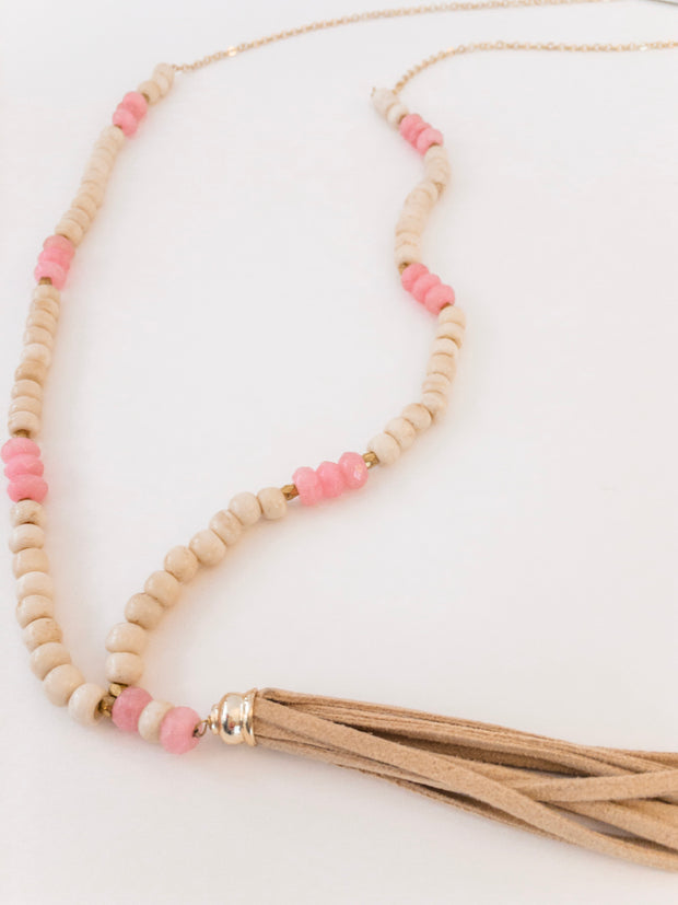 Suede Tassel Necklace - Shop House Market