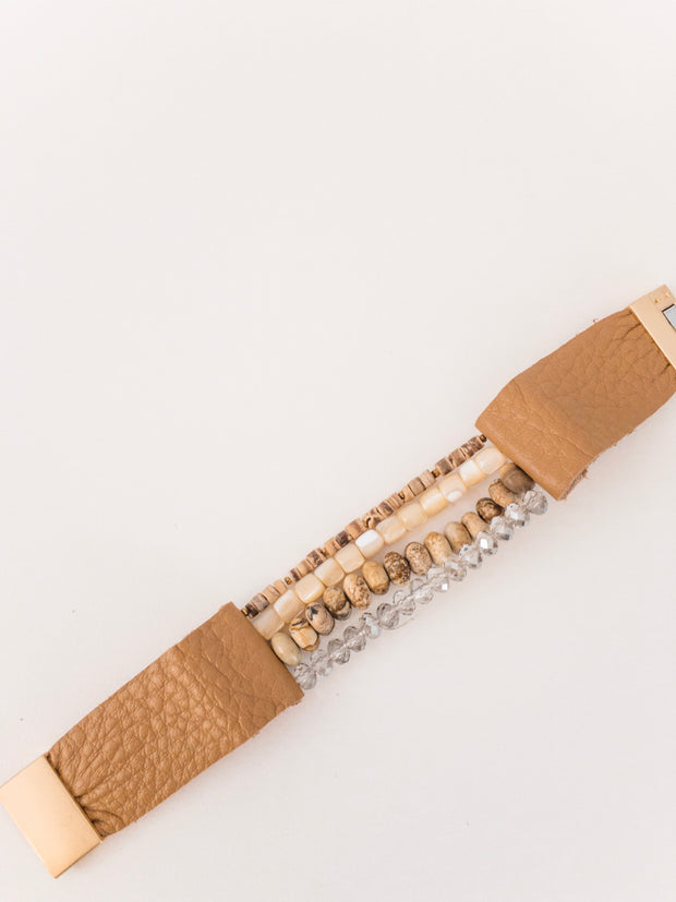 Denver Leather Beaded Bracelet - Shop House Market