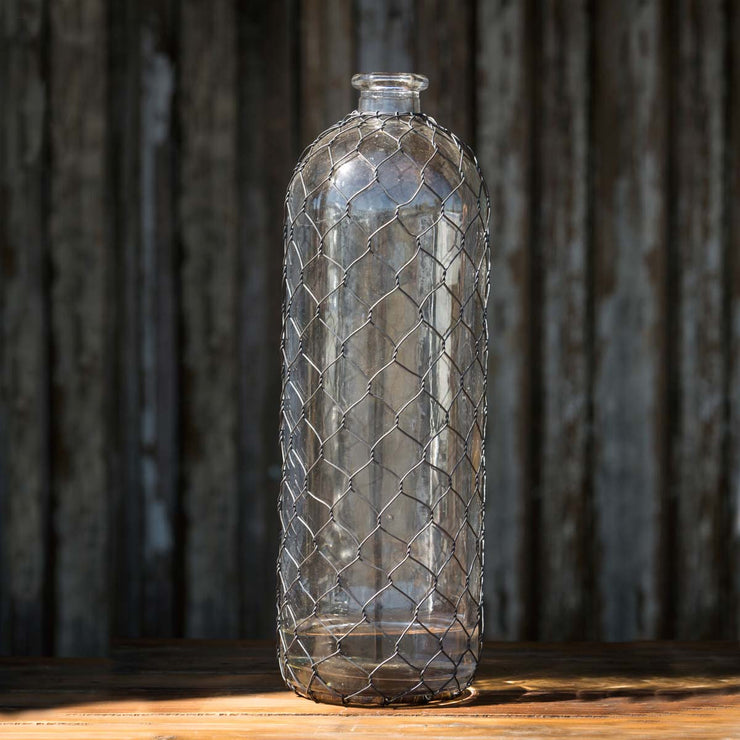 "Bottle with Poultry Wire - 16"" - Shop House Market"