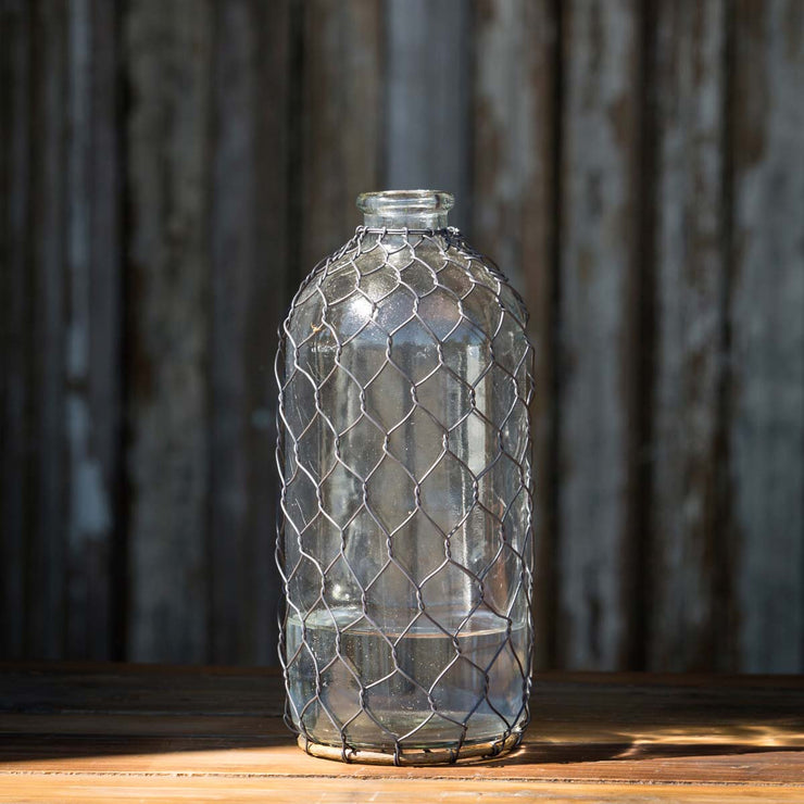 "Bottle with Poultry Wire - 10"" - Shop House Market"