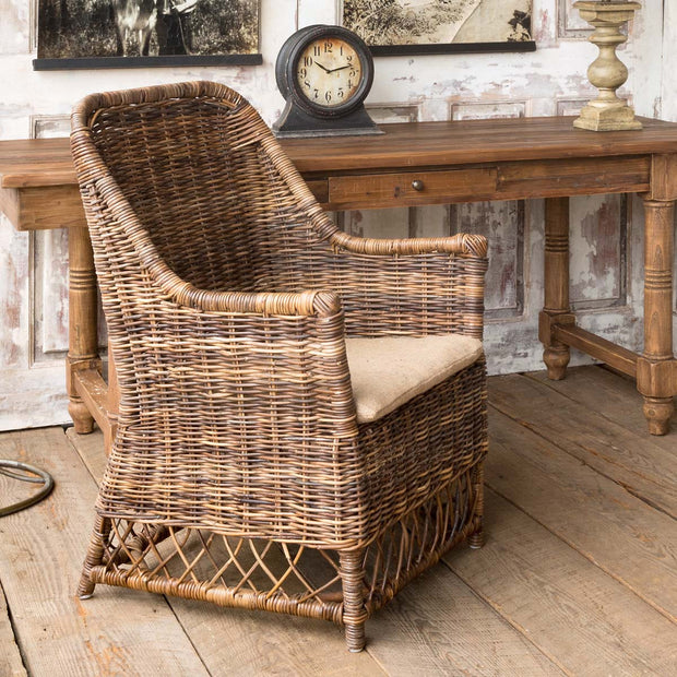 Cherry Log Rattan Chair - Shop House Market