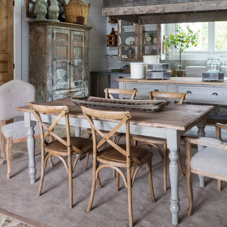 French Country Painted Farm Table - Shop House Market