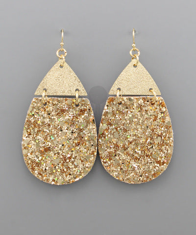 Glitter Teardrop Earrings - Shop House Market
