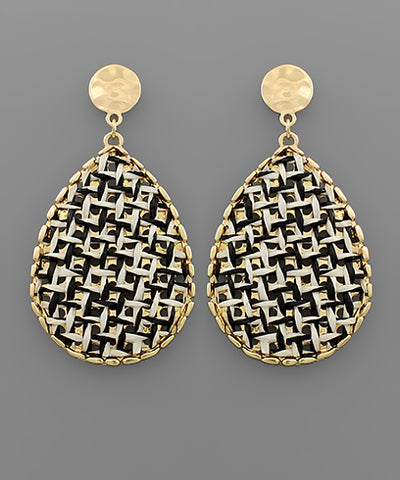 Rattan Teardrop Earrings - Shop House Market