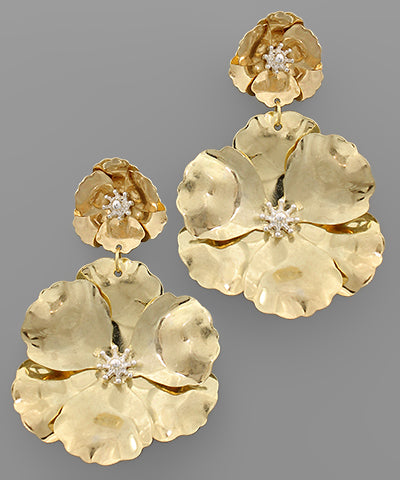 Double Flower Earrings - Shop House Market