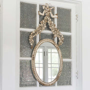 Petite Flower Oval Mirror - Shop House Market