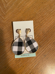 buffalo Plaid Teardrop Dangle Earrings - Shop House Market
