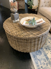 Seascape Driftwood Rattan Round Coffee Table - Shop House Market