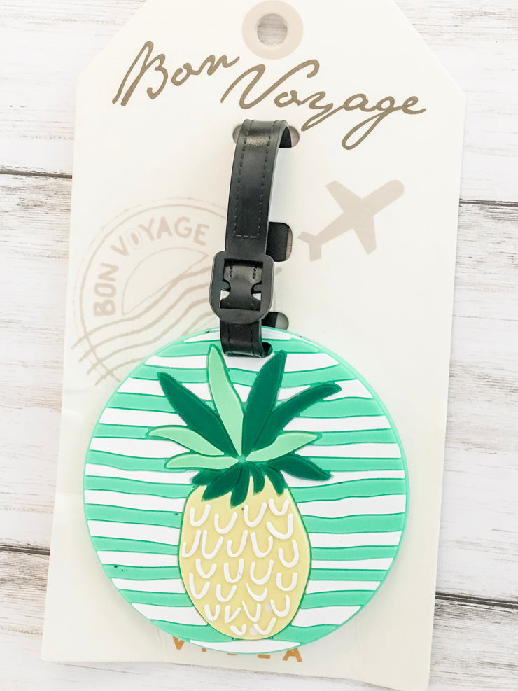 Pineapple Round Luggage Tag - Shop House Market